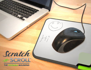 Scratch-n-Scroll mousepad