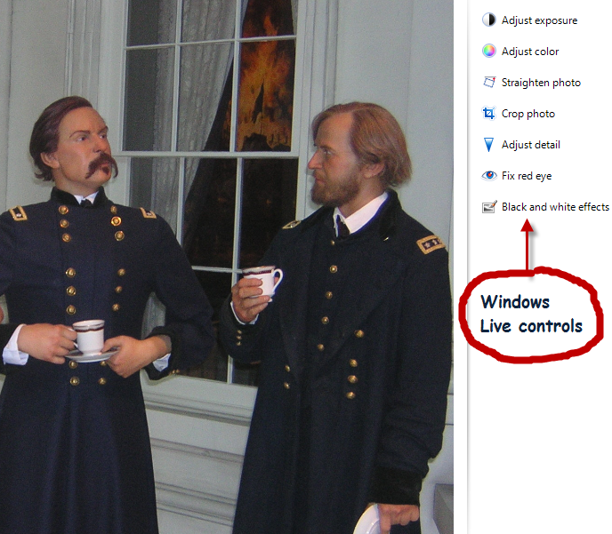 U.S. Grant talks things over with General McClellan