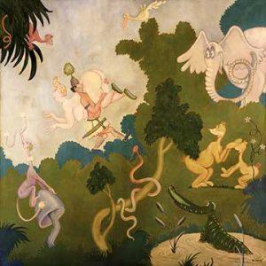 Dr. Seuss art on canvas