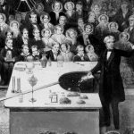Michael Faraday lecturing at the Royal Institution