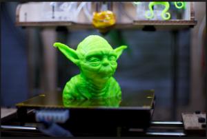 3D-Printed Yoda head