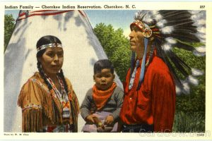 Indian Family Cherokee Indian Reservation